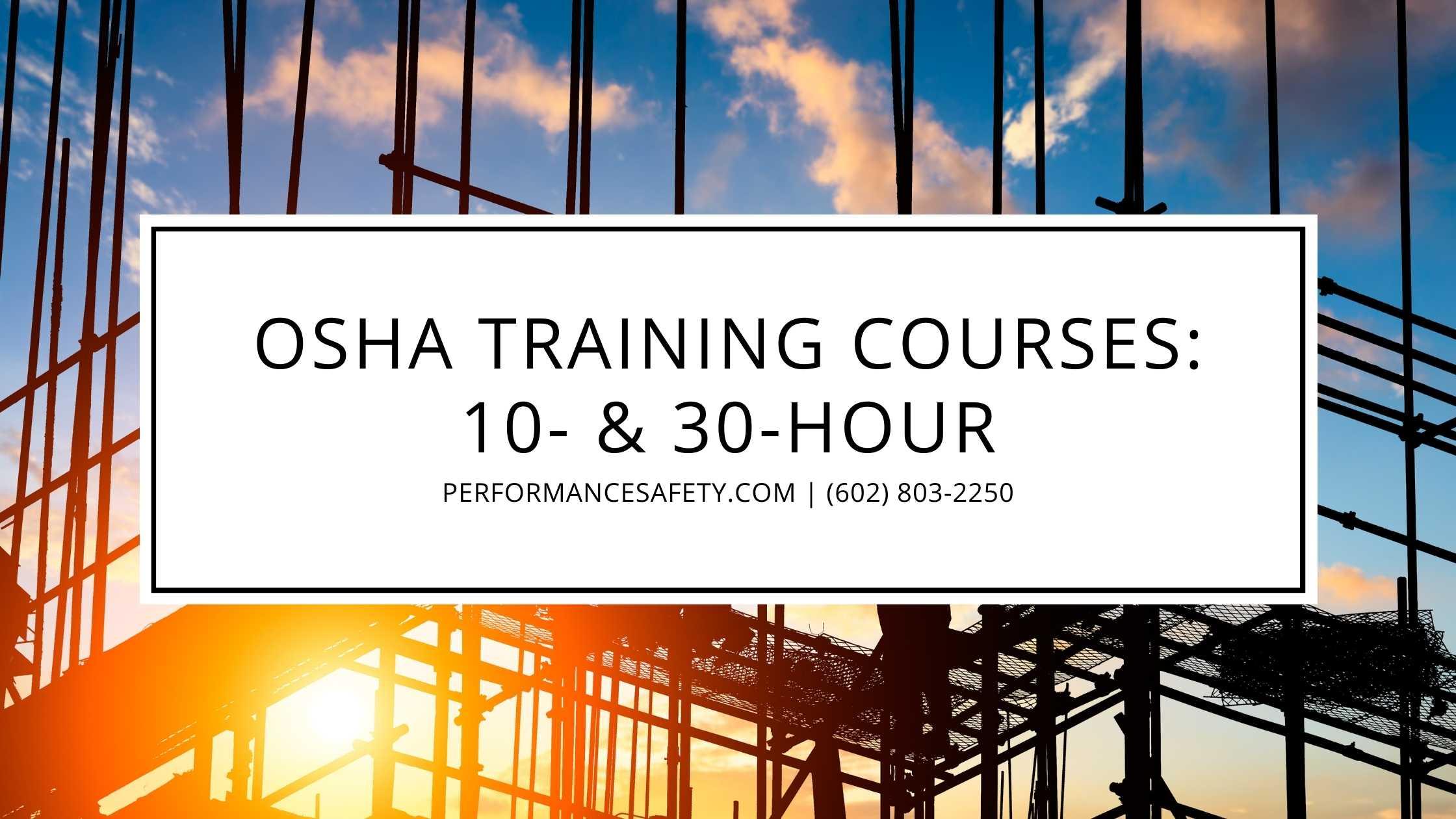 OSHA training courses